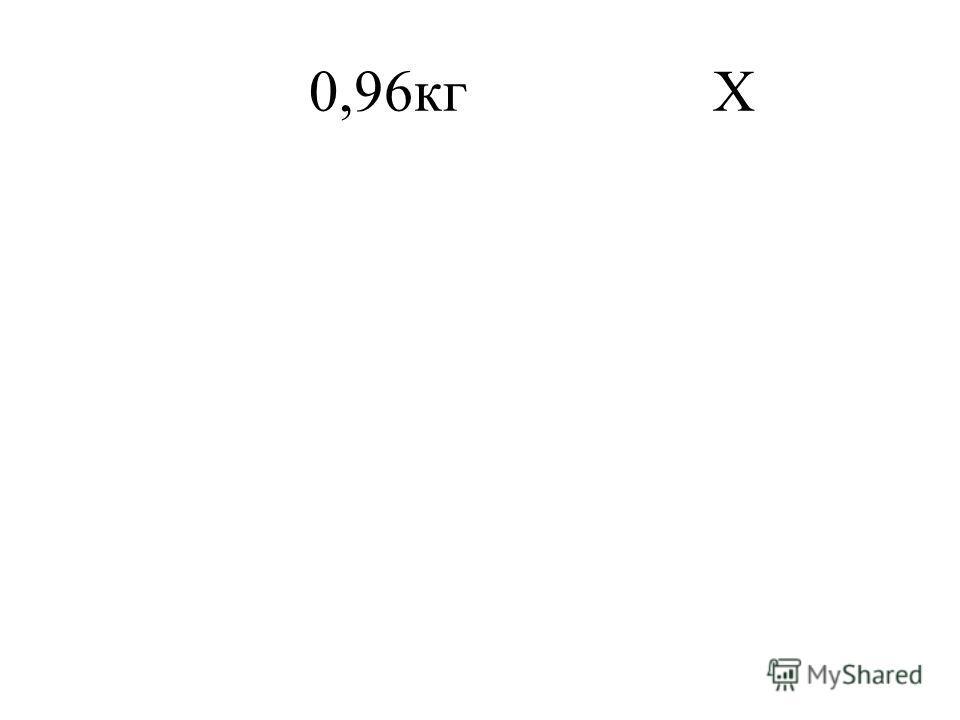 0,96кг Х