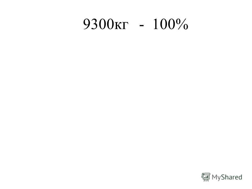 9300кг - 100%