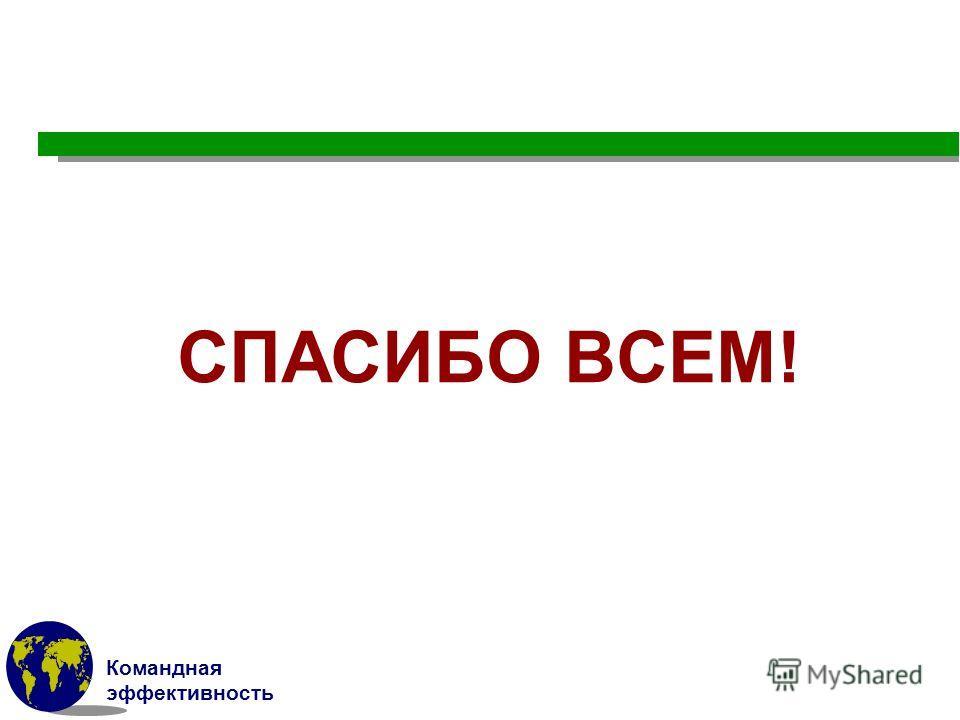 Командная эффективность СПАСИБО ВСЕМ!