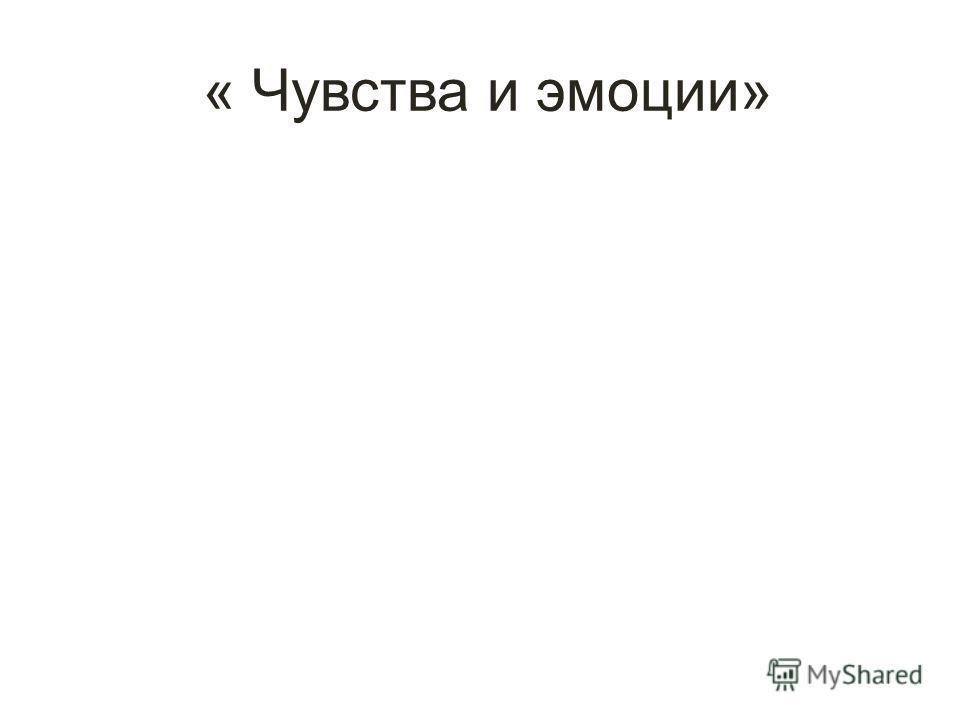 « Чувства и эмоции»