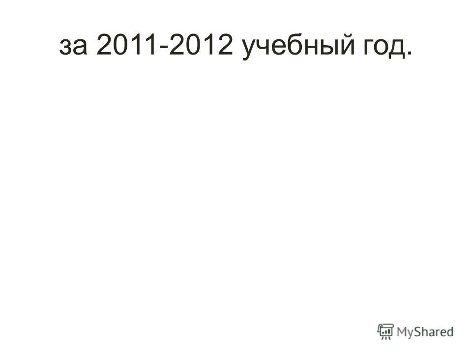 за 2011-2012 учебный год.