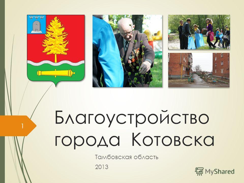 Благоустройство города Котовска Тамбовская область 2013 1