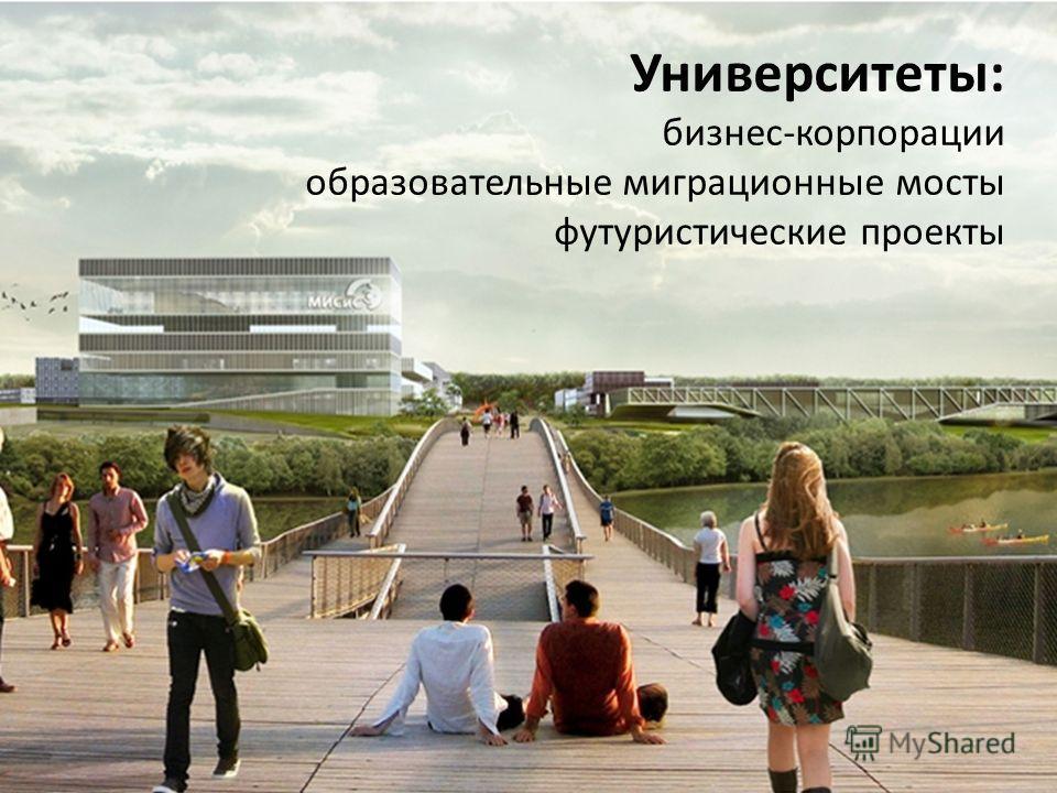 Университеты: бизнес-корпорации образовательные миграционные мосты футуристические проекты