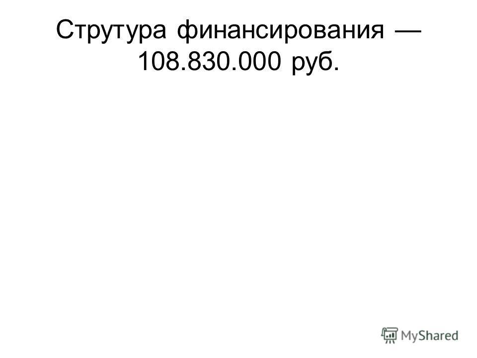 Струтура финансирования 108.830.000 руб.