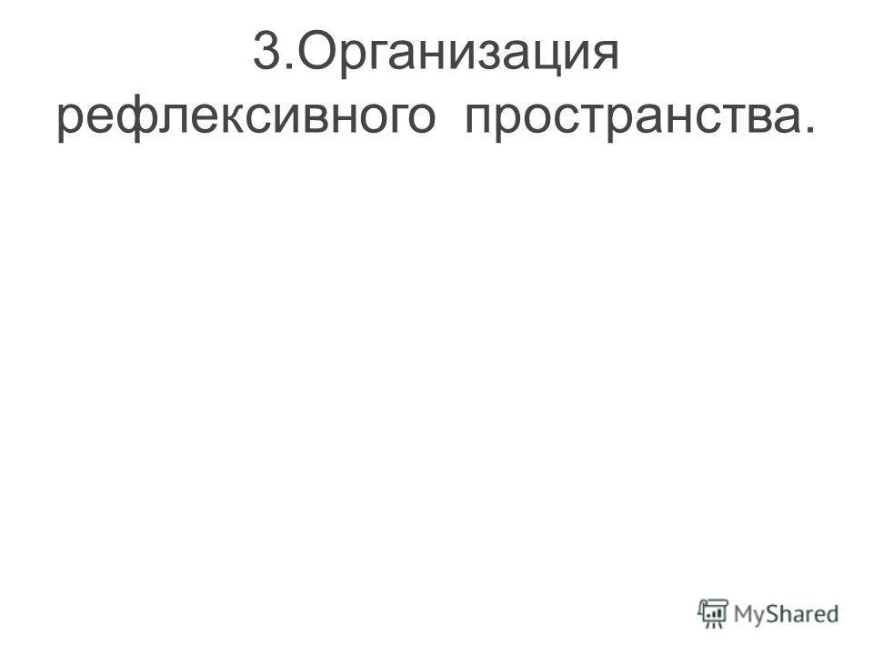 3.Организация рефлексивного пространства.