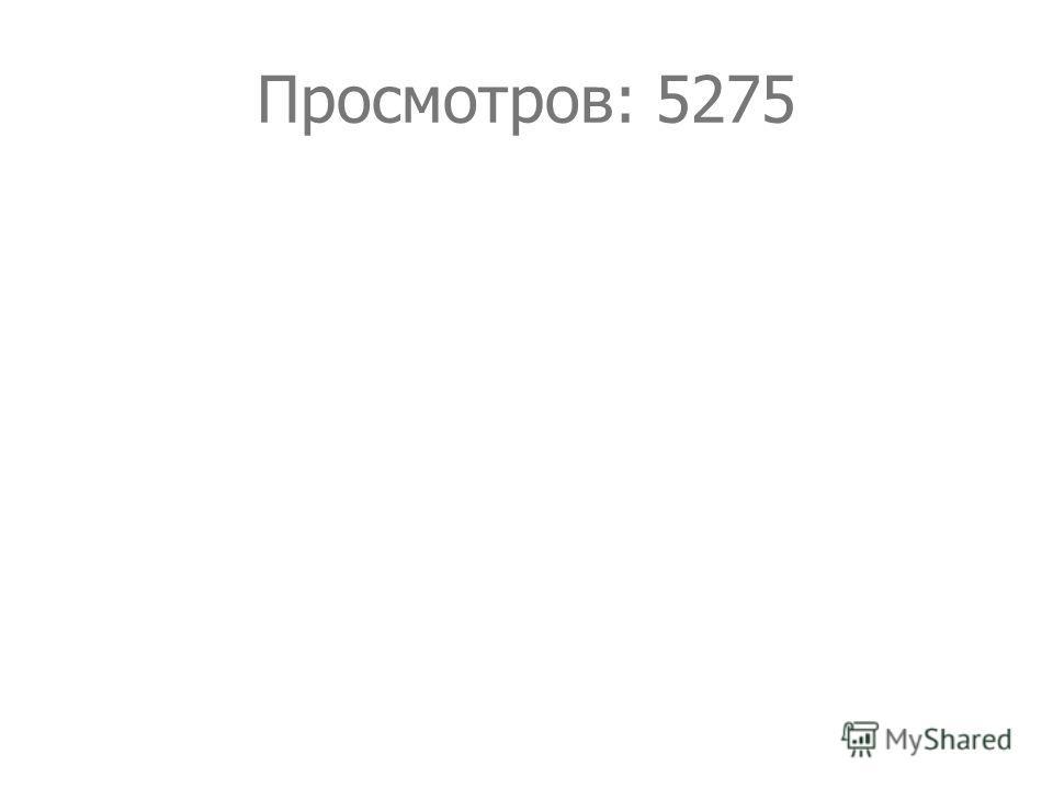 Просмотров: 5275