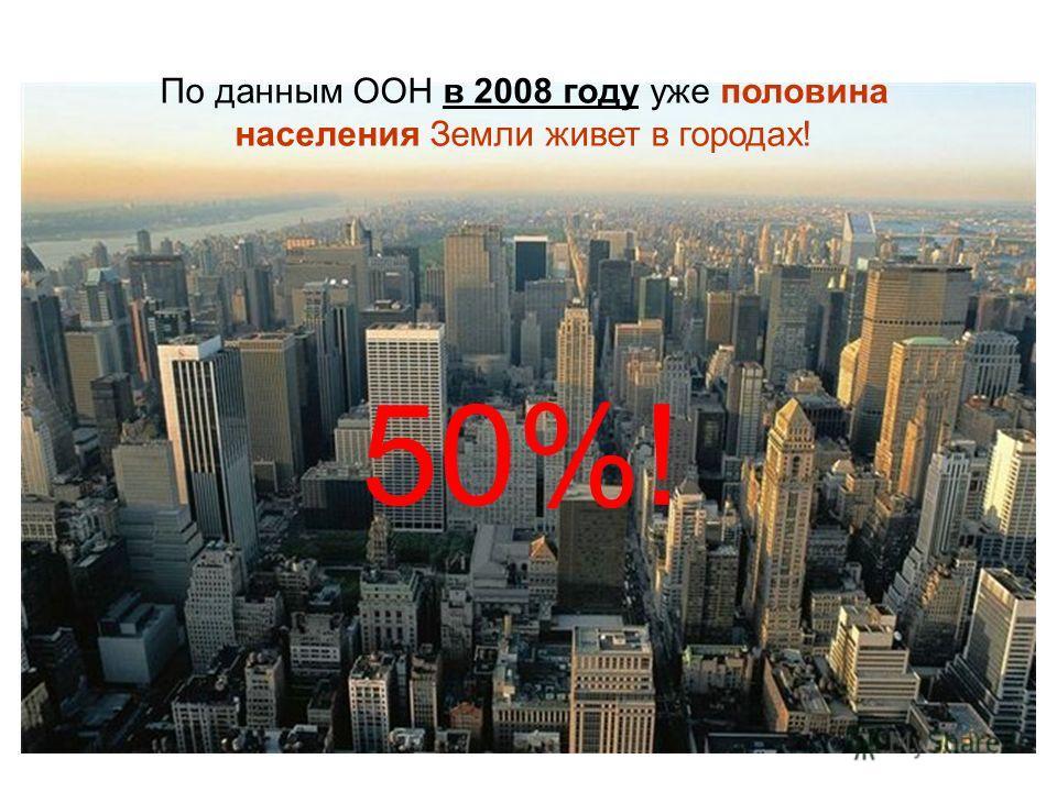 (C) В.П.Гальетов21 По данным ООН в 2008 году уже половина населения Земли живет в городах! 50%!