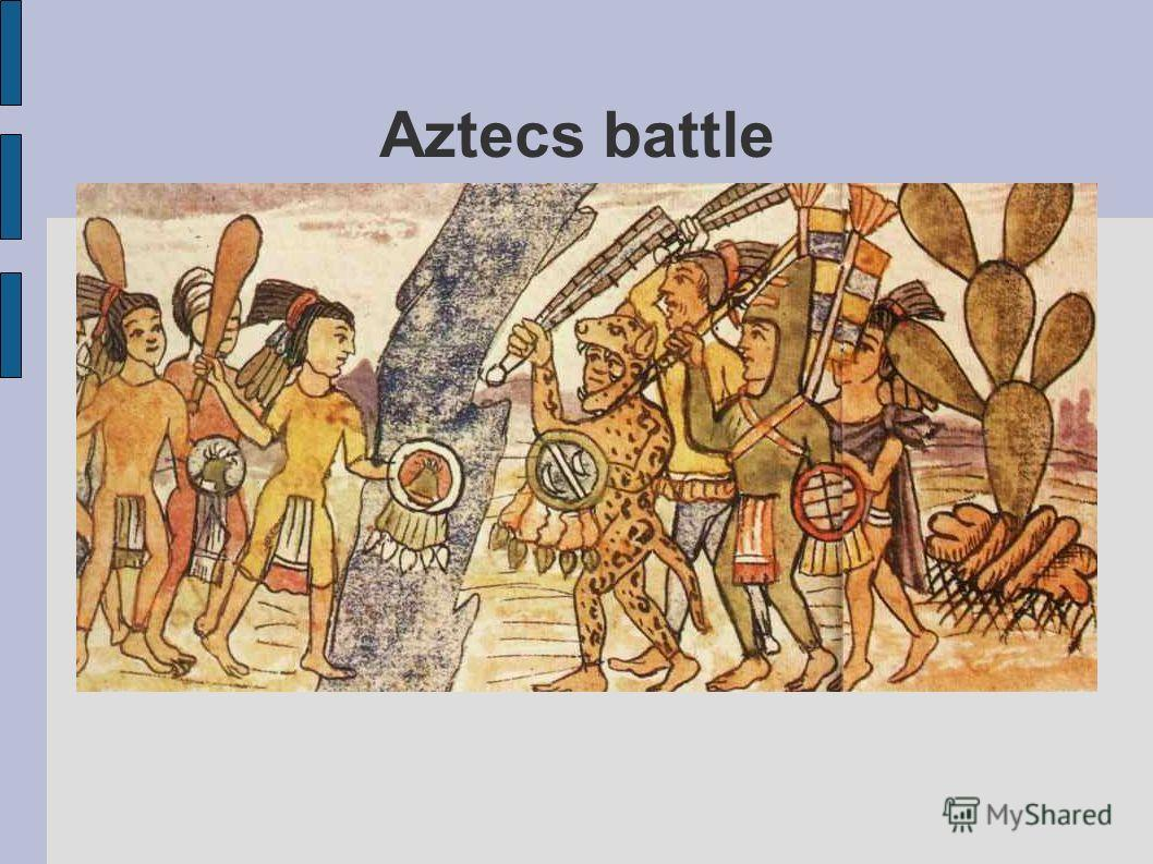 Aztecs battle