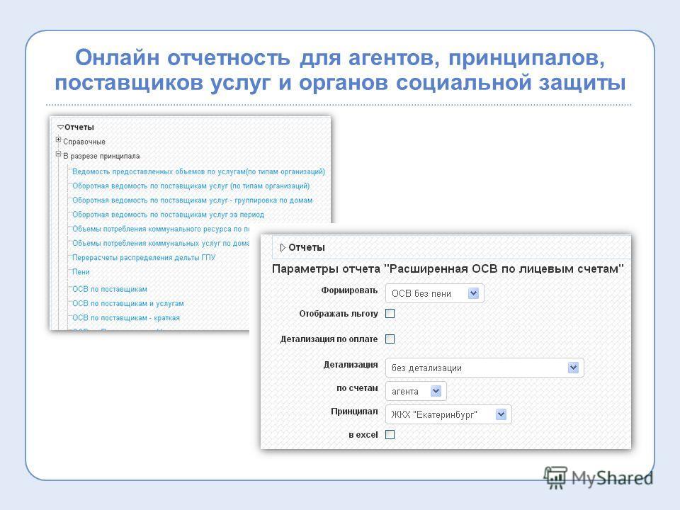 Онлайн отчетность для агентов, принципалов, поставщиков услуг и органов социальной защиты