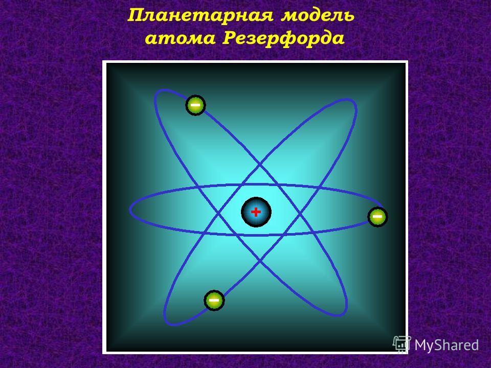 Планетарная модель атома Резерфорда