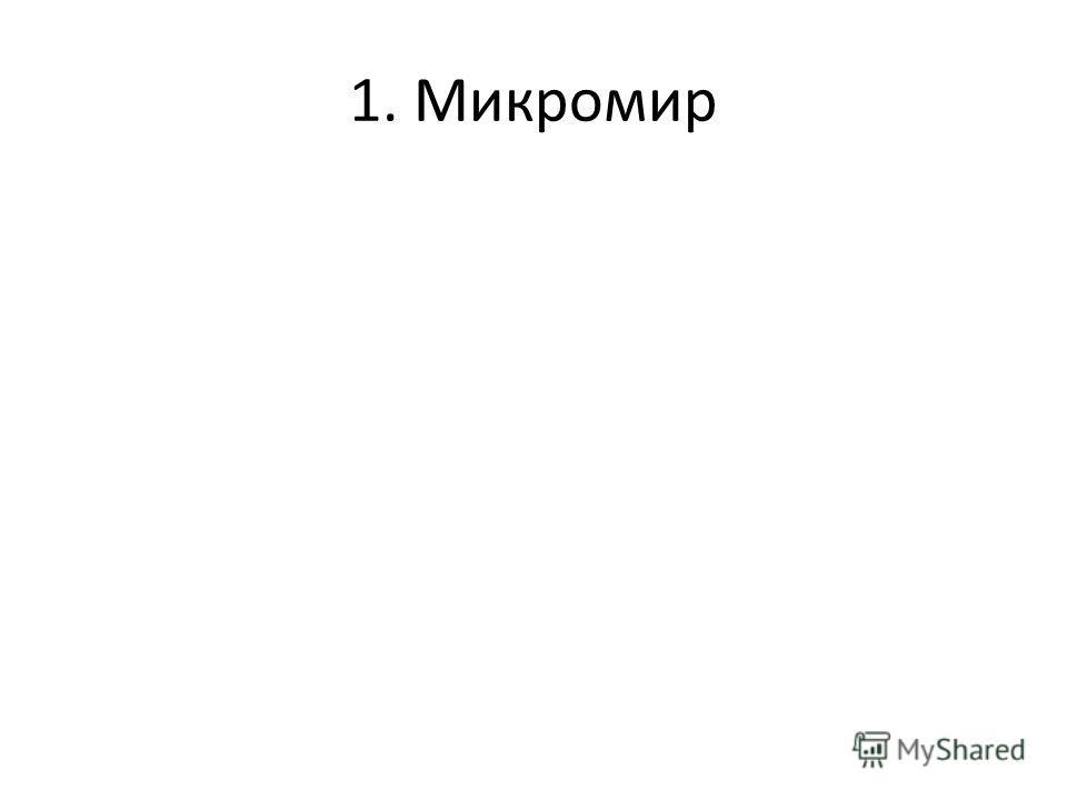 1. Микромир