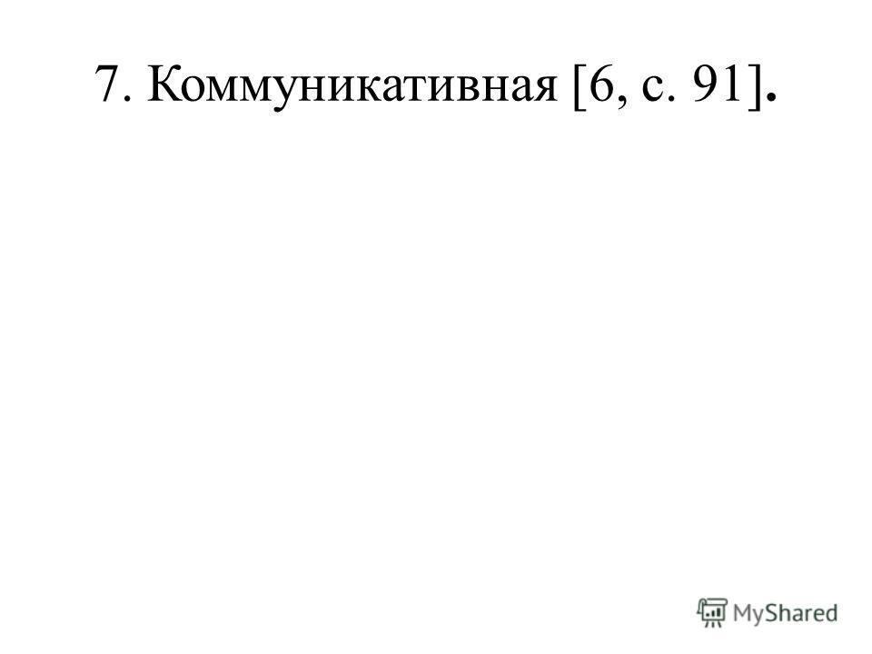 7. Коммуникативная [6, с. 91].