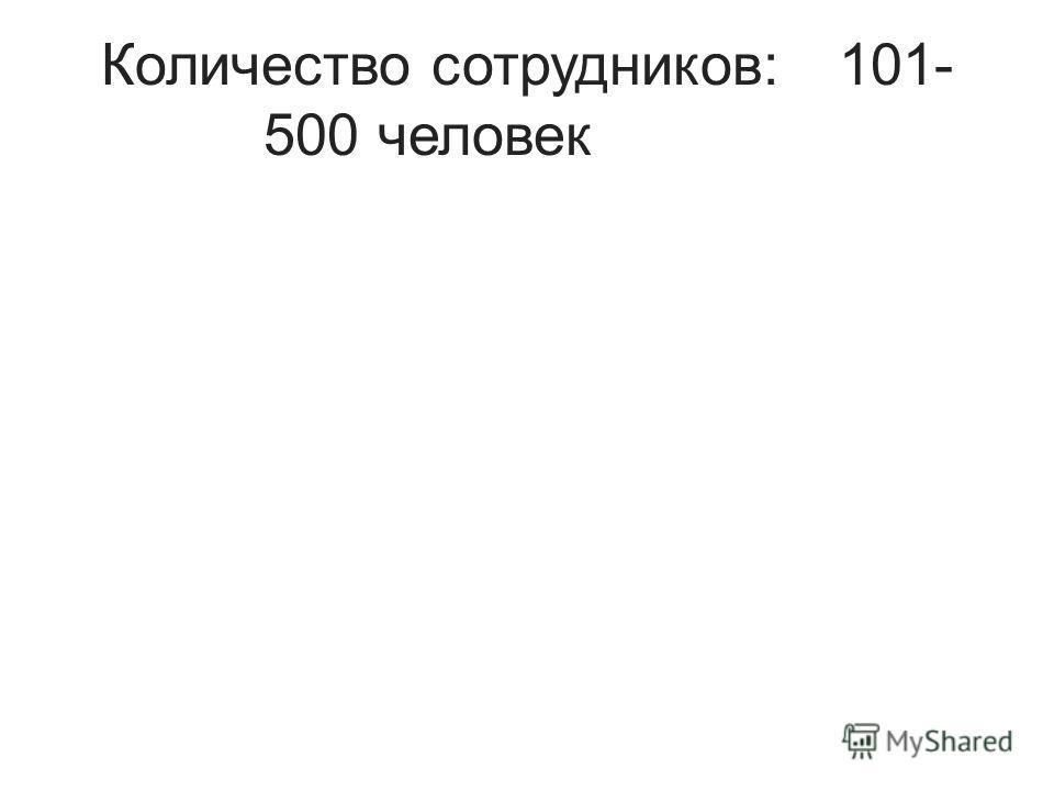Количество сотрудников:101- 500 человек