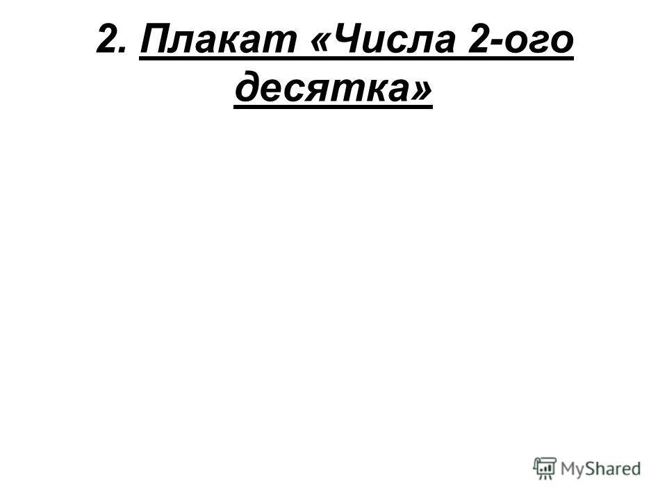 2. Плакат «Числа 2-ого десятка»