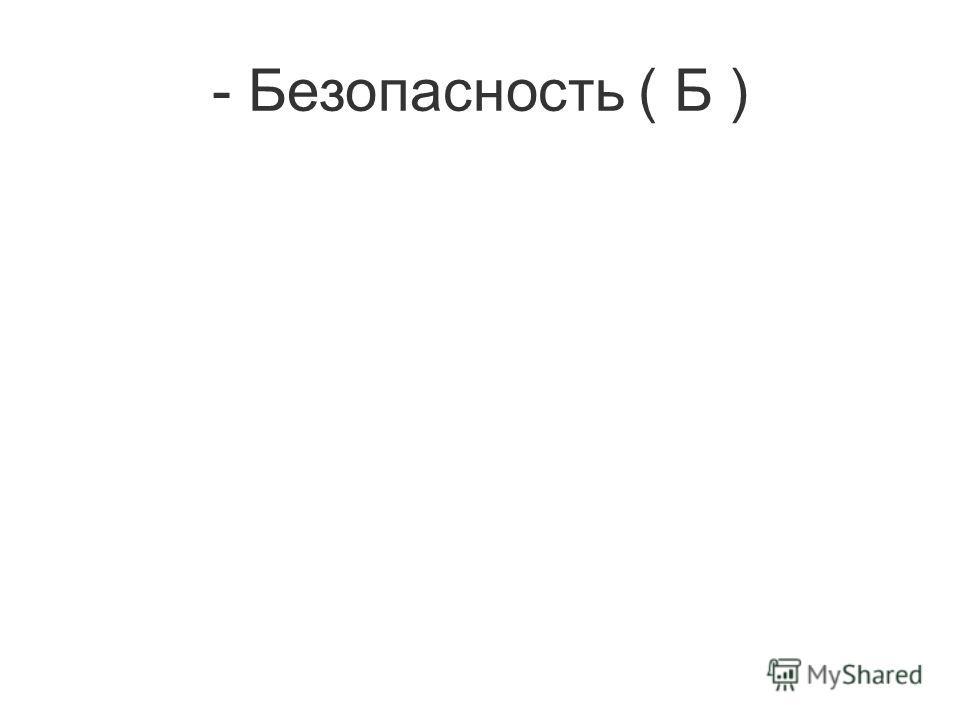 - Безопасность ( Б )