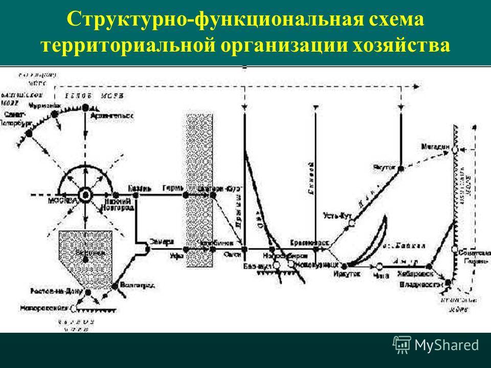 Структурно-функциональная схема территориальной организации хозяйства