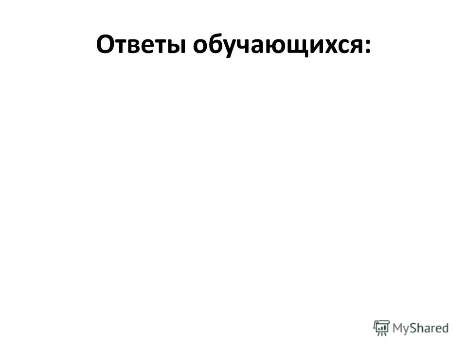 Ответы обучающихся: