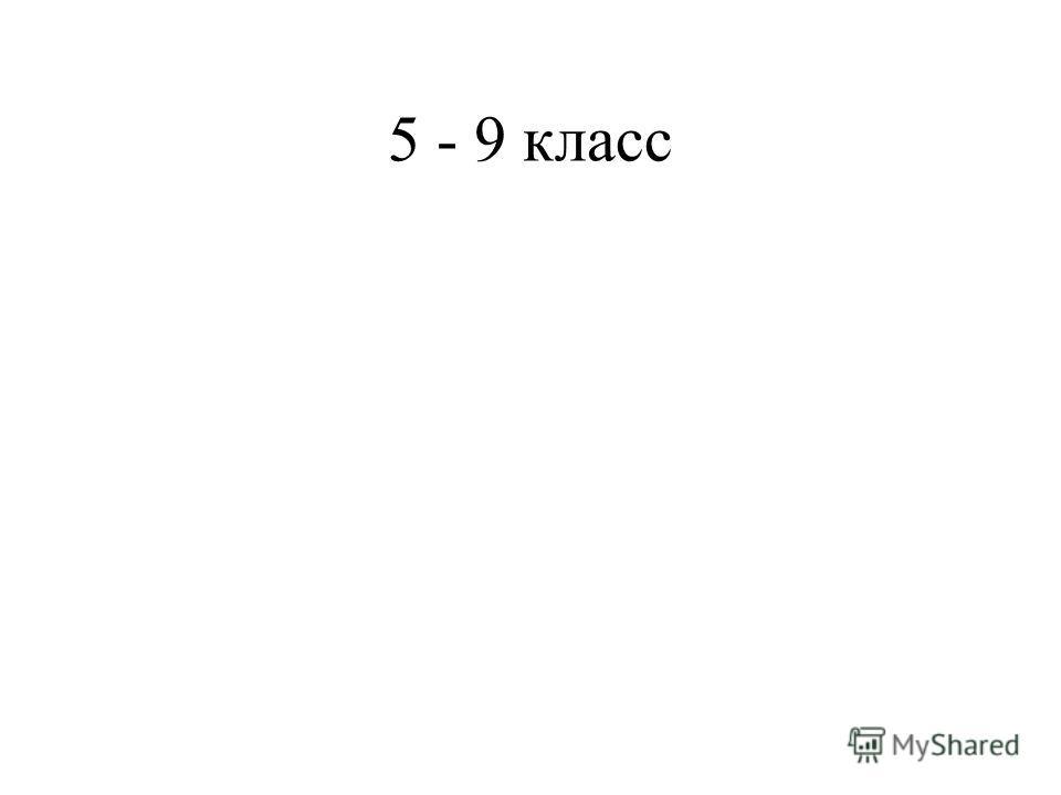 5 - 9 класс