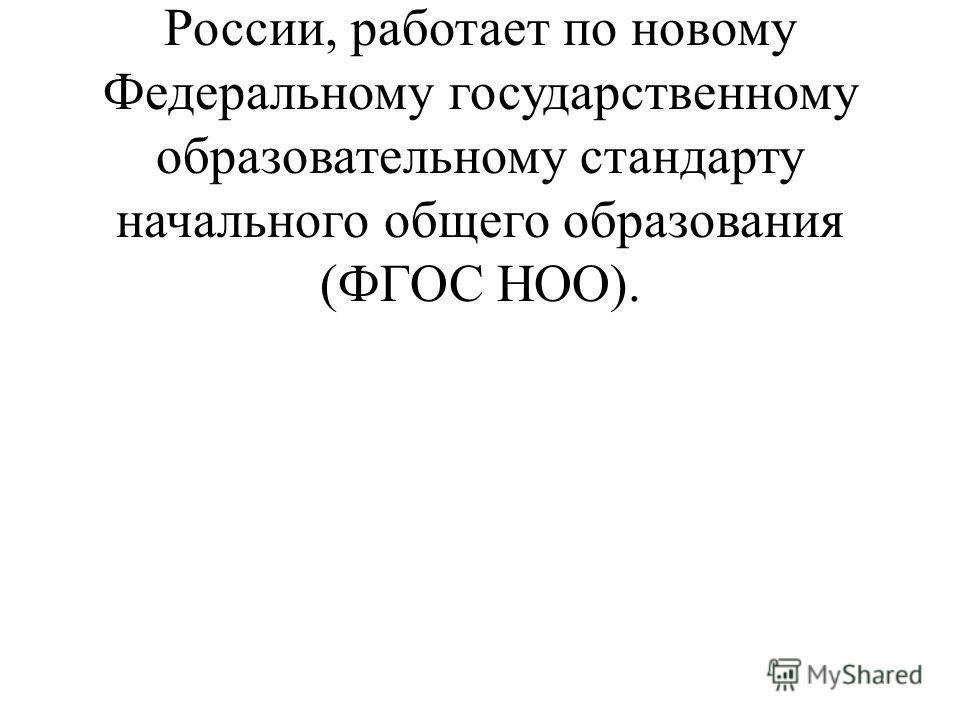 Уже два года наша школа, как и все образовательные учреждения России, работает по новому Федеральному государственному образовательному стандарту начального общего образования (ФГОС НОО).