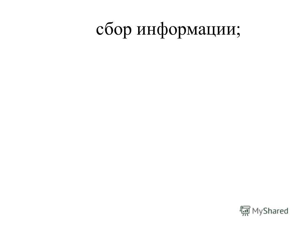 сбор информации;