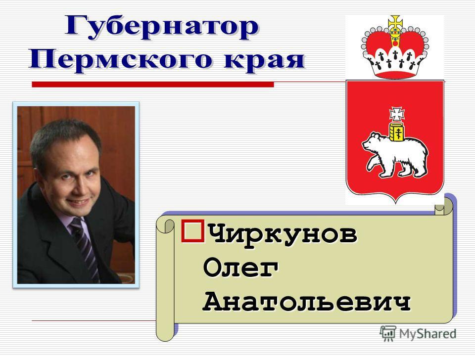 Чиркунов Олег Анатольевич Чиркунов Олег Анатольевич