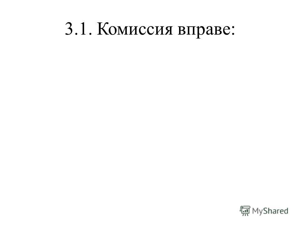 3.1. Комиссия вправе: