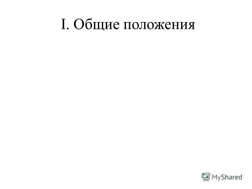 I. Общие положения
