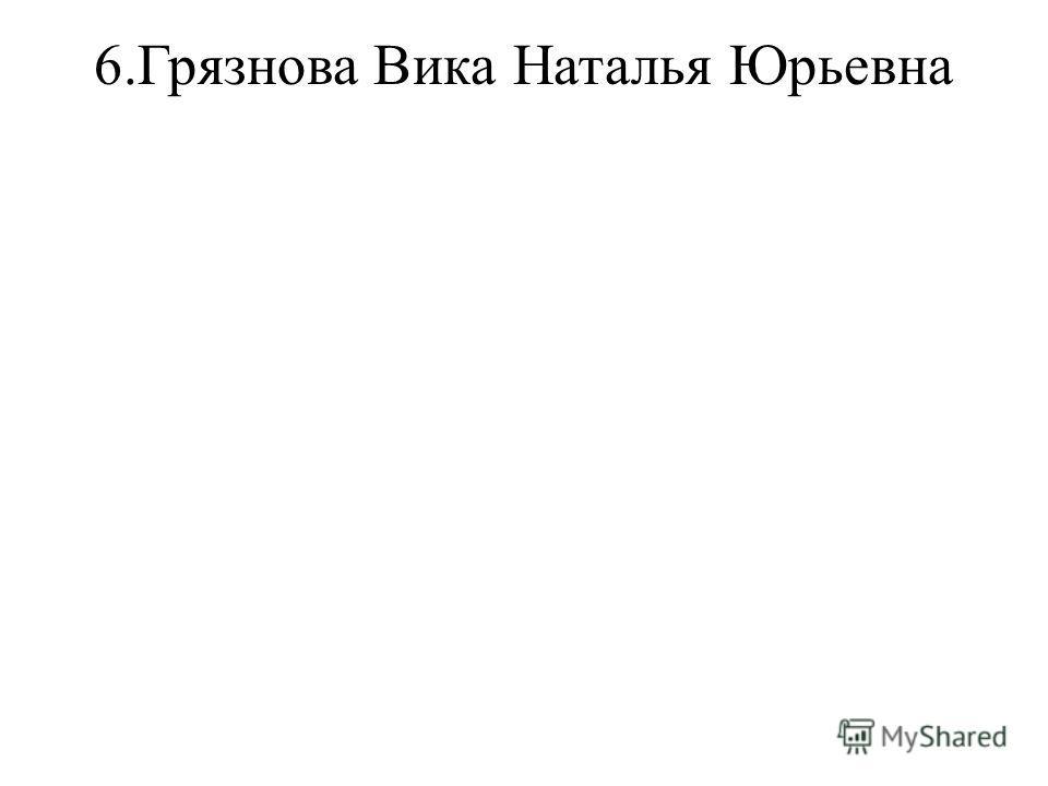 6.Грязнова ВикаНаталья Юрьевна