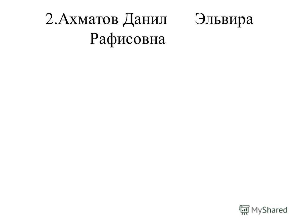 2.Ахматов ДанилЭльвира Рафисовна