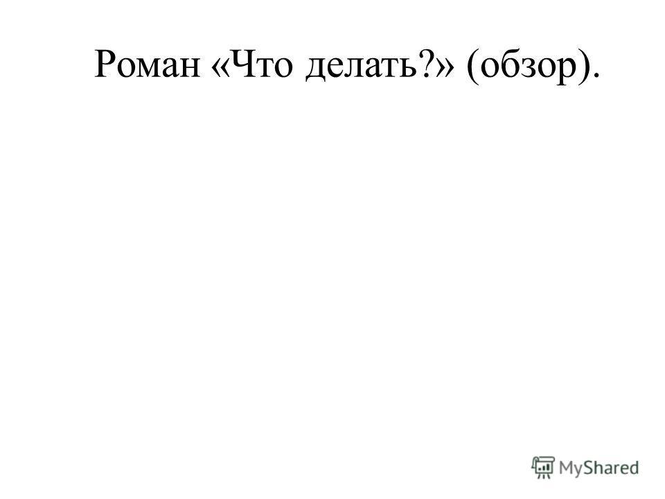 Роман «Что делать?» (обзор).