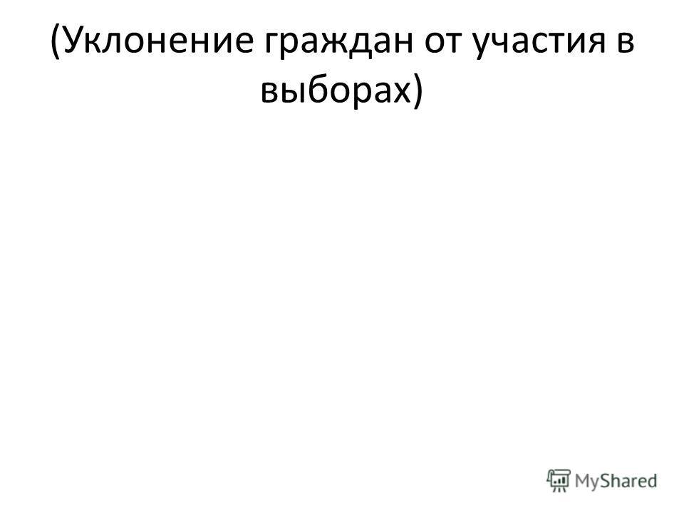 (Уклонение граждан от участия в выборах)