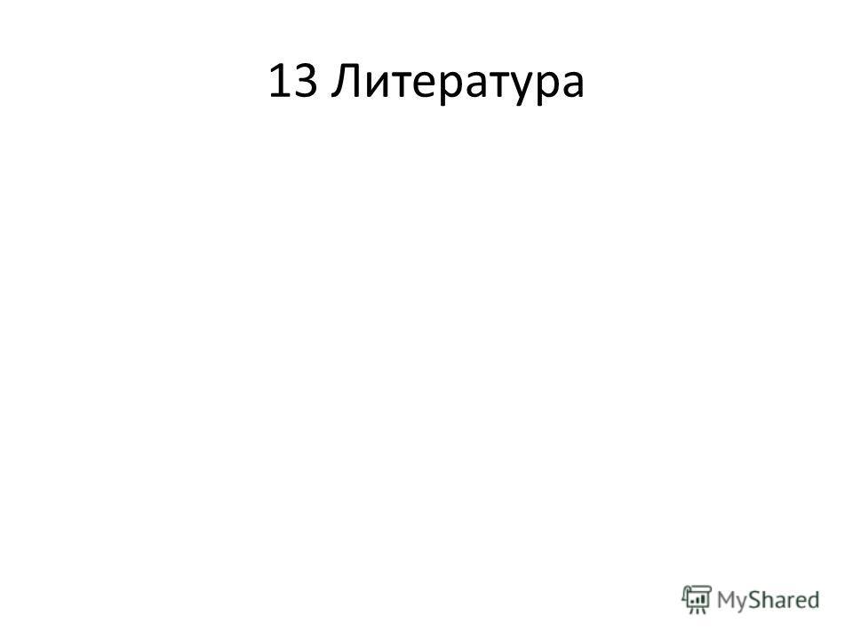 13 Литература