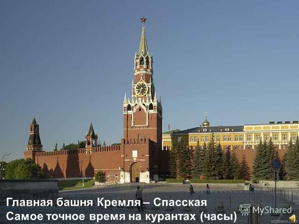 & Главная башня Кремля – Спасская Самое точное время на курантах (часы)
