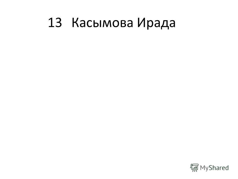 13Касымова Ирада