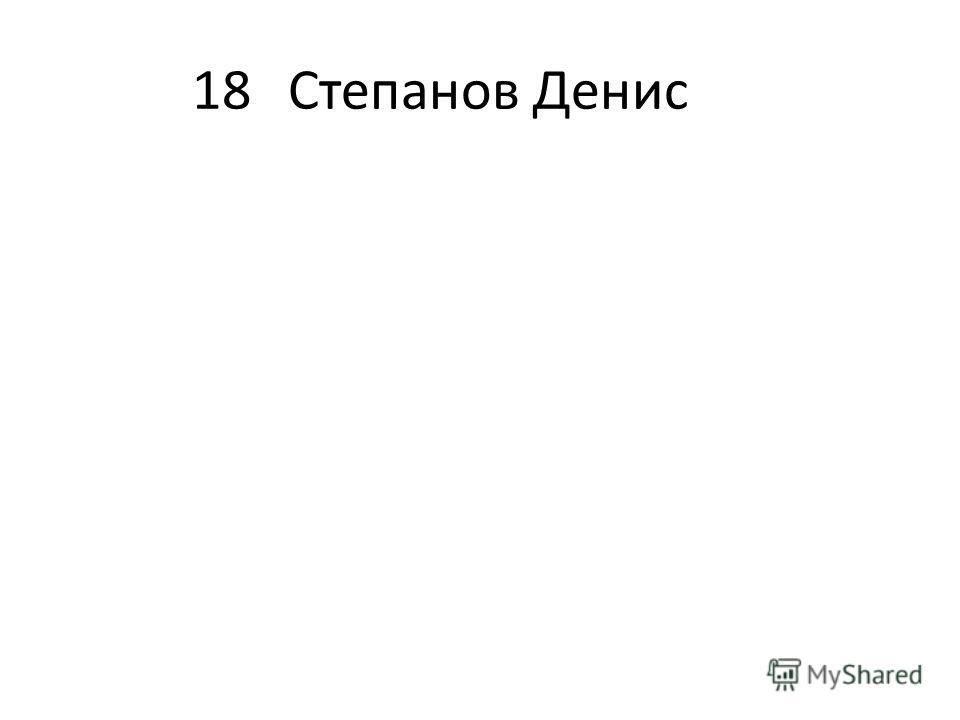 18Степанов Денис