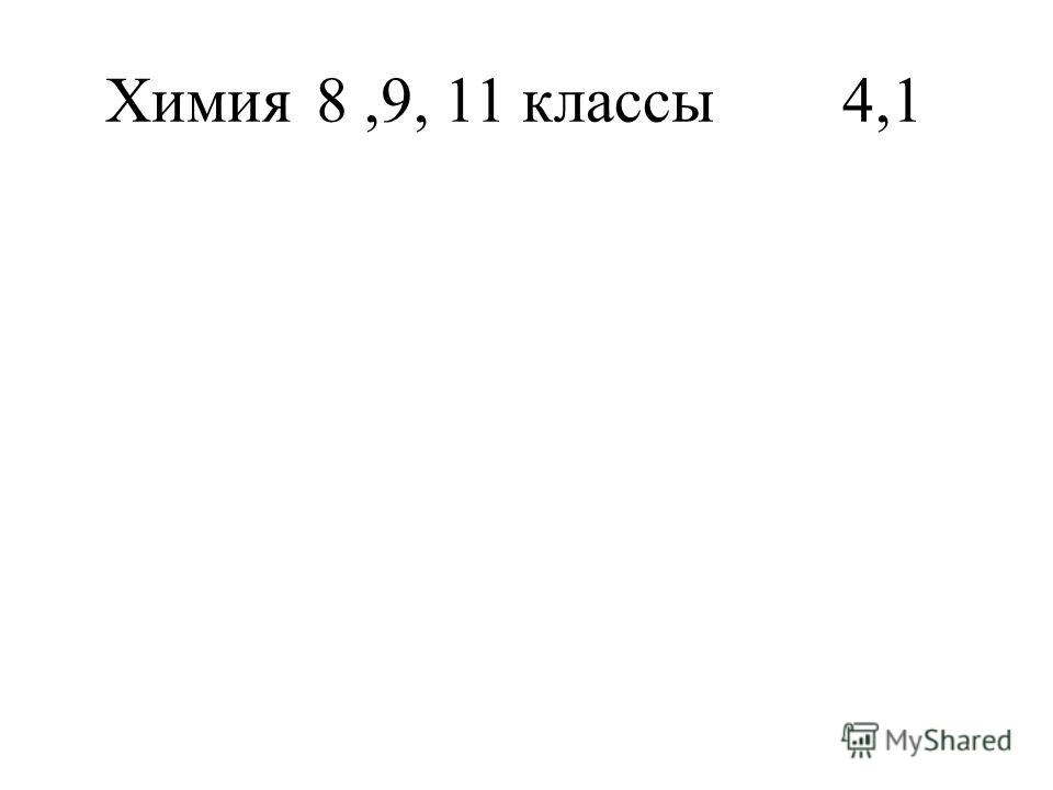 Химия 8,9, 11 классы4,1