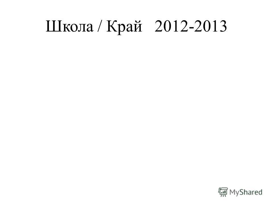 Школа / Край2012-2013
