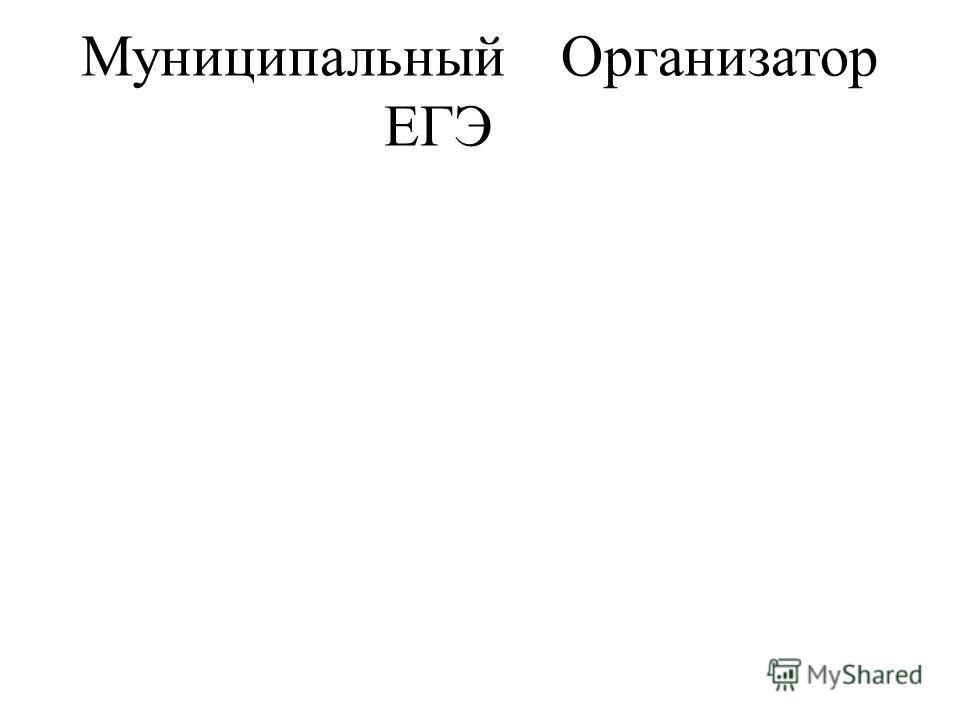 МуниципальныйОрганизатор ЕГЭ