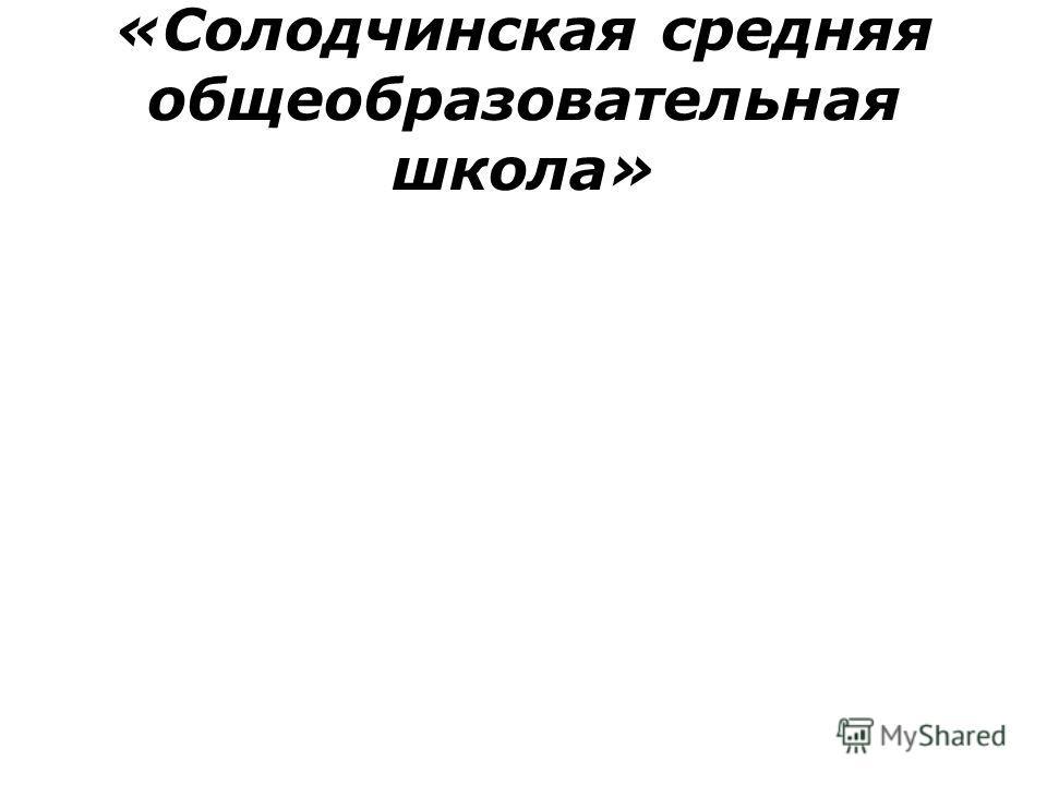 «Солодчинская средняя общеобразовательная школа»