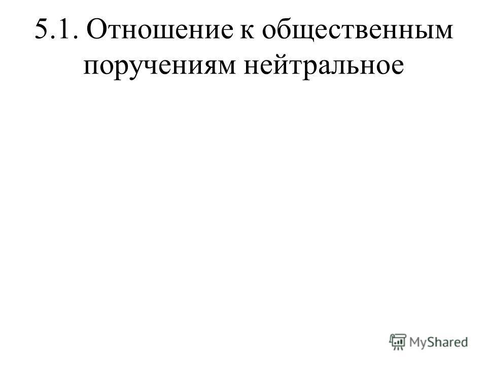 5.1. Отношение к общественным поручениям нейтральное