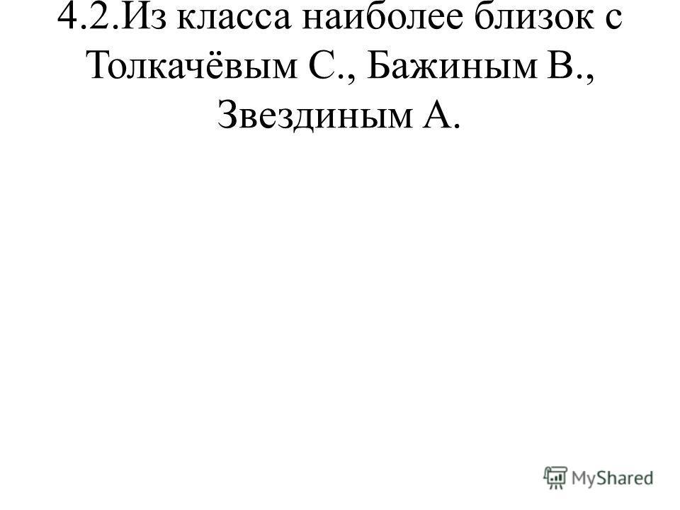4.2.Из класса наиболее близок с Толкачёвым С., Бажиным В., Звездиным А.
