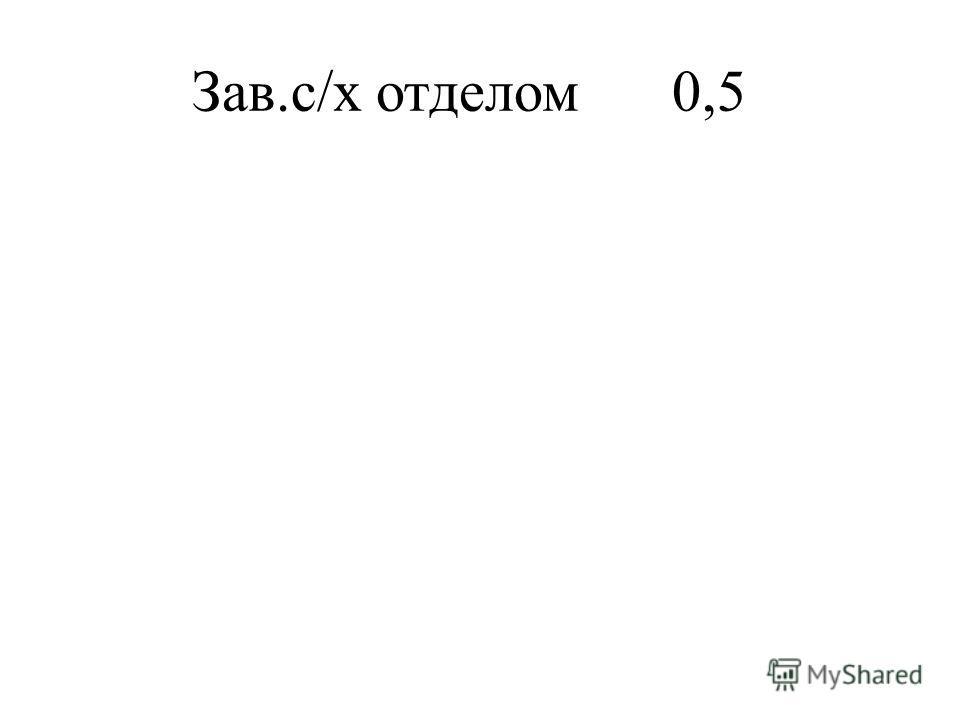 Зав.с/х отделом0,5