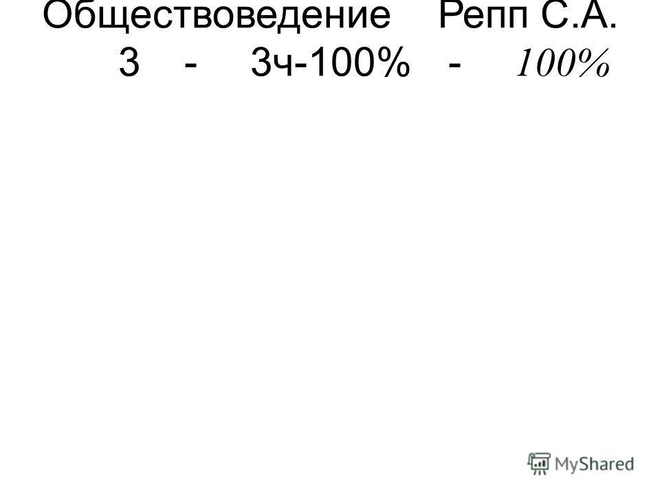 ОбществоведениеРепп С.А. 3-3ч-100%- 100%