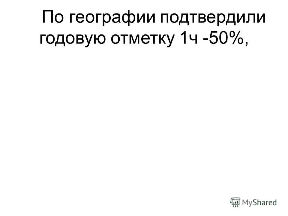 По географии подтвердили годовую отметку 1ч -50%,