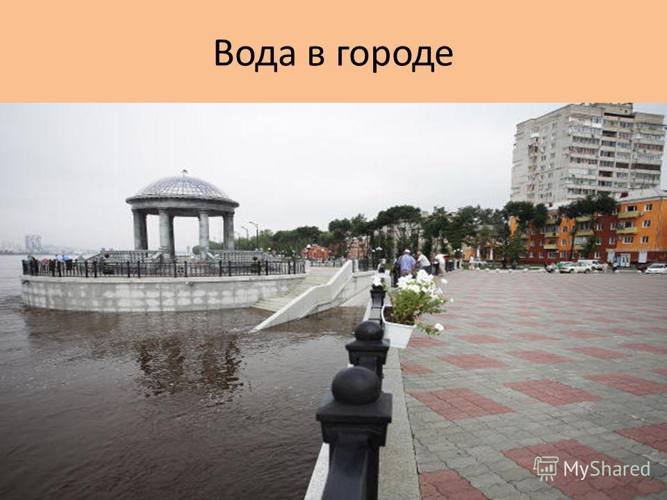 Вода в городе