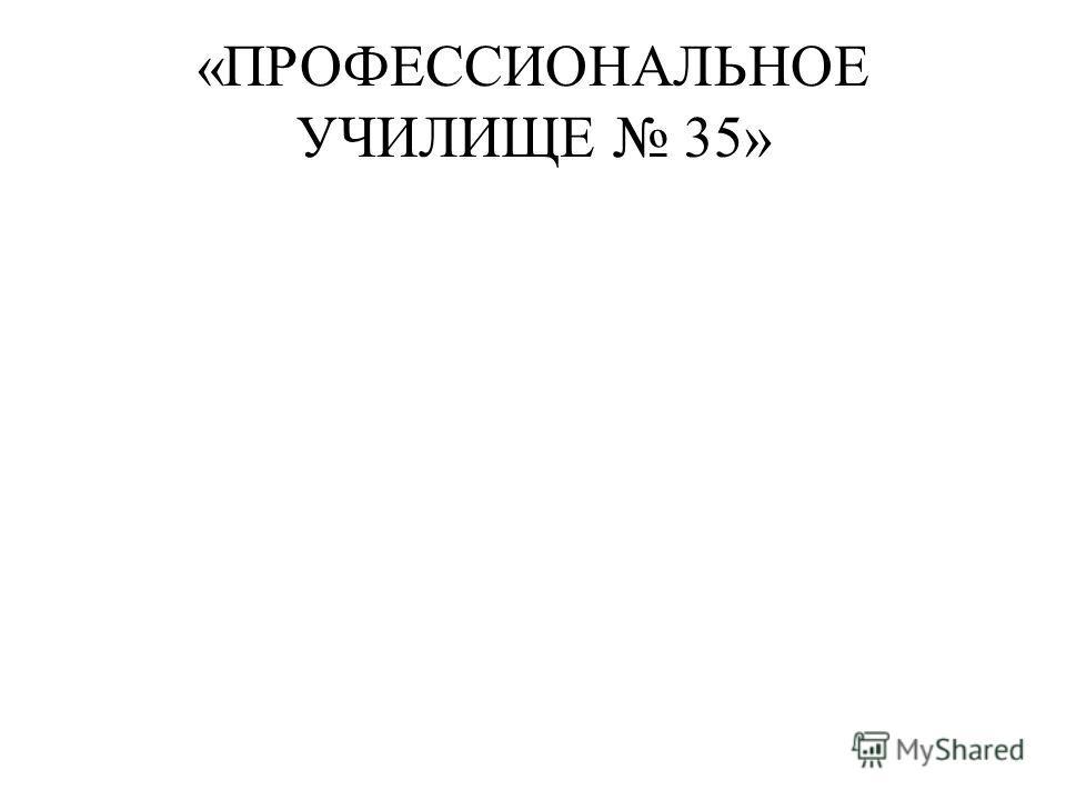 «ПРОФЕССИОНАЛЬНОЕ УЧИЛИЩЕ 35»