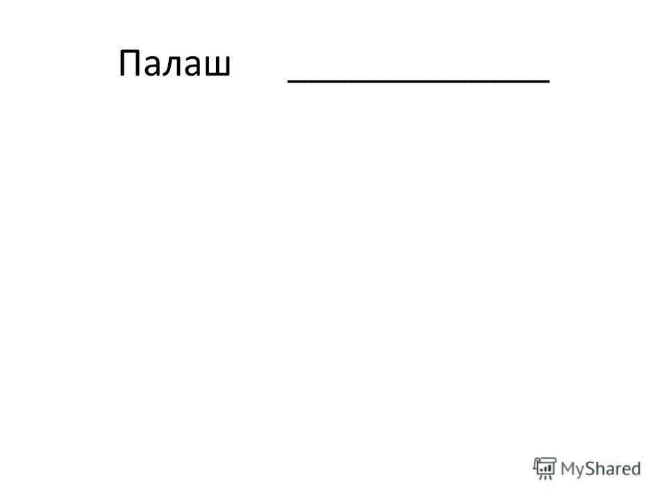 Палаш _____________