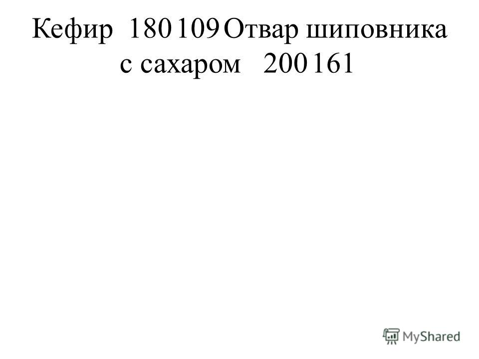 Кефир180109Отвар шиповника с сахаром200161