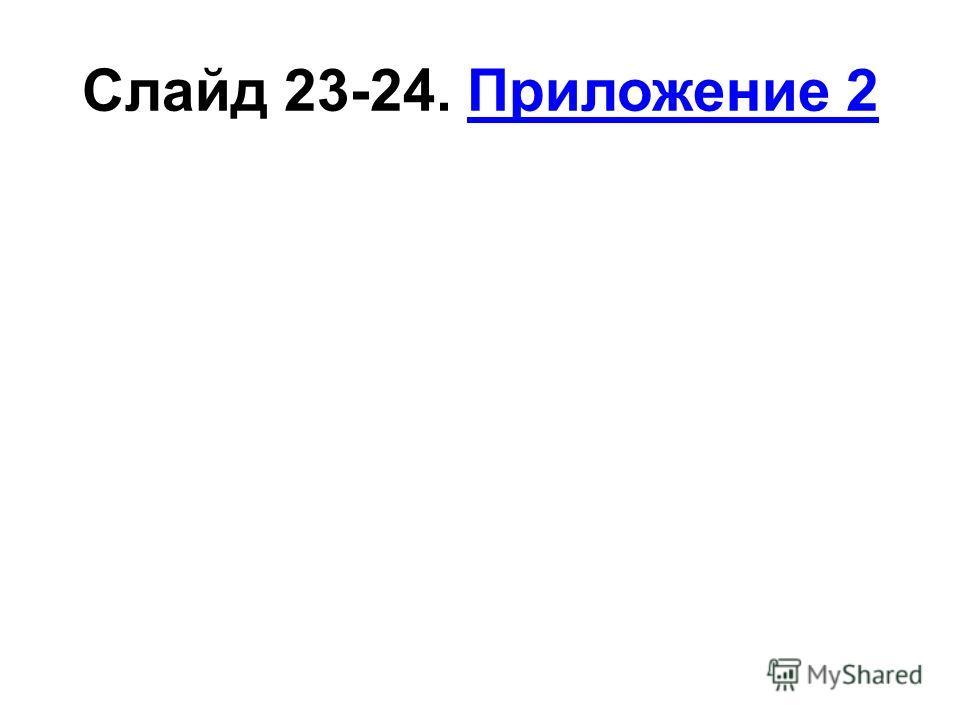 Слайд 23-24. Приложение 2Приложение 2