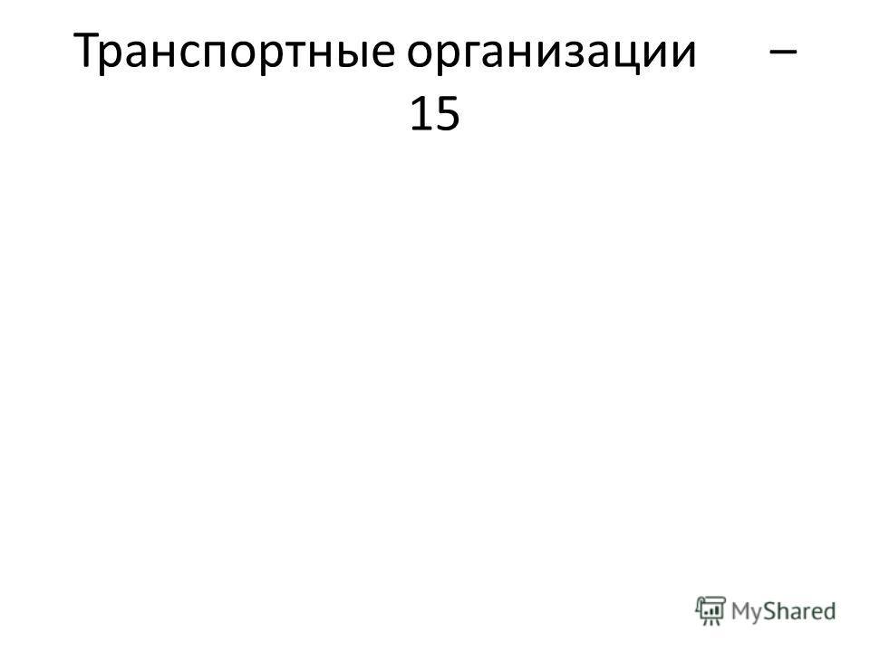 Транспортные организации – 15